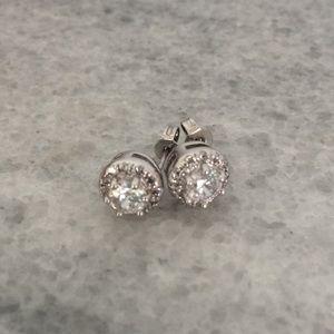 Express Rhinestone Halo Earrings
